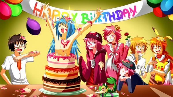 Картинки с аниме поздравление с днем